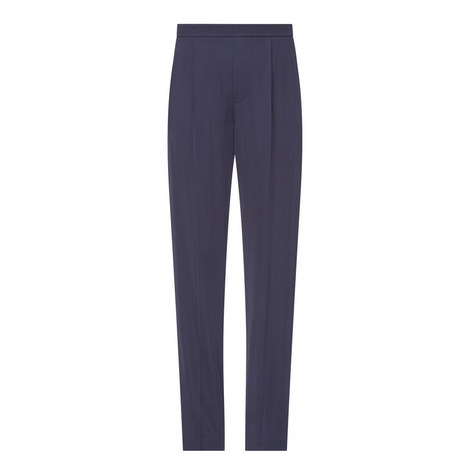 Pleated Satin Trousers, ${color}