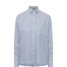 Cropped Stripe Shirt