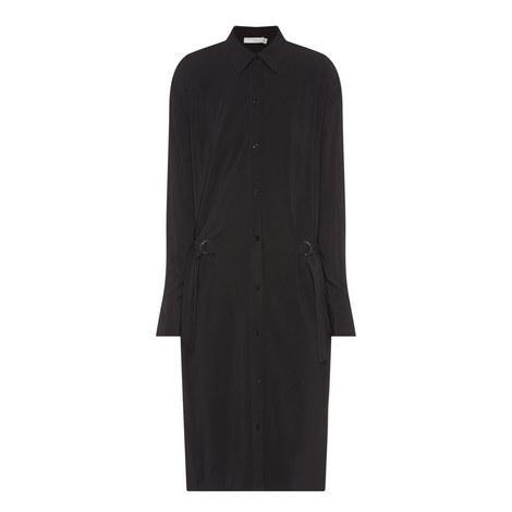 Drawstring Waist Shirt Dress, ${color}