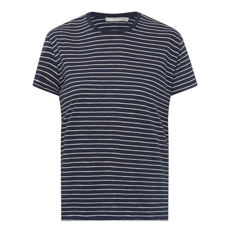 Stripe Print T-Shirt , ${color}