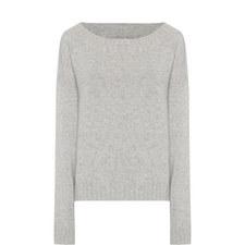 Bateau Neckline Cashmere Sweater