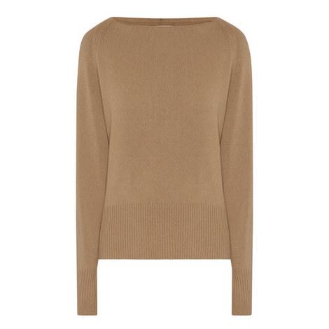 Bateau Neckline Cashmere Sweater, ${color}