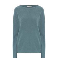 Boxy Boat Neck Cashmere Sweater