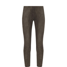 Split-Hem Suede Trousers