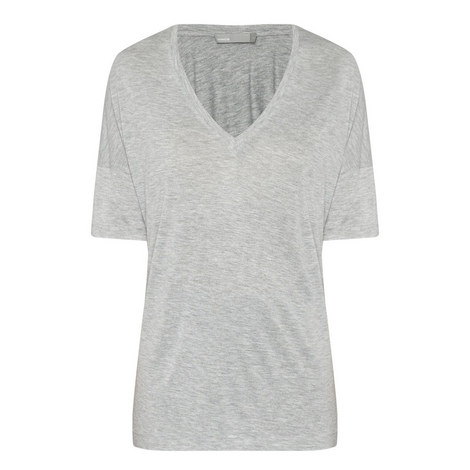 Drop Shoulder V-Neck T-Shirt, ${color}