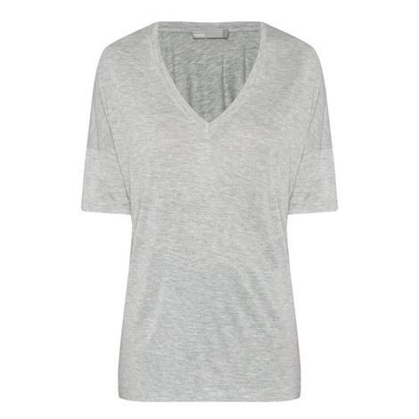 Drop Shoulder V-Neck T-Shirt, ${color}