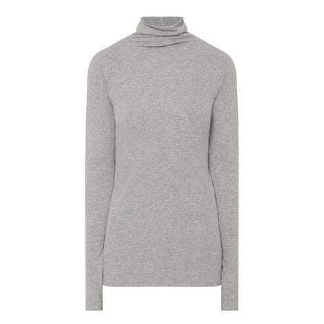 Long Sleeve Polo Neck Top, ${color}
