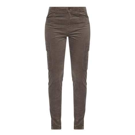 Corduroy Skinny Cargo Trousers, ${color}