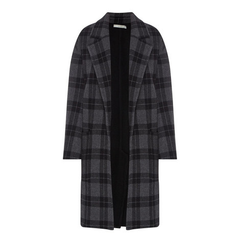 Tonal Plaid Coat, ${color}