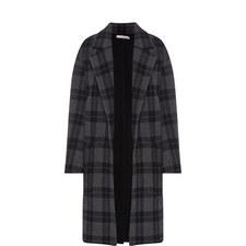 Tonal Plaid Coat