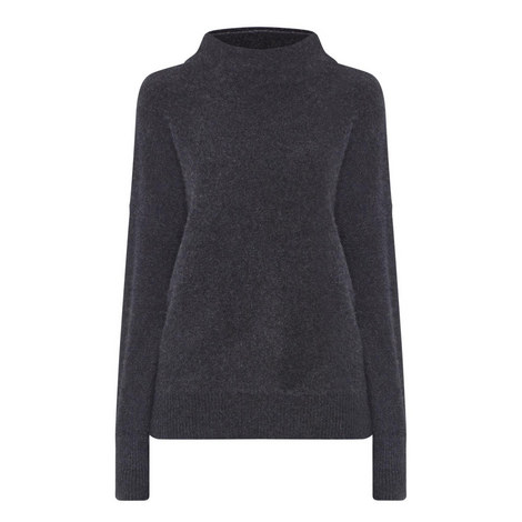 Funnel Neck Cashmere Sweater, ${color}