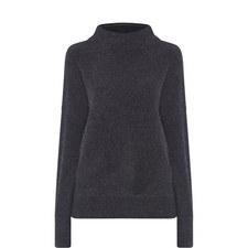 Funnel Neck Cashmere Sweater