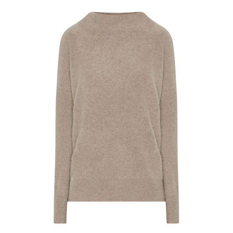 Funnel Neck Cashmere Sweater, ${color}