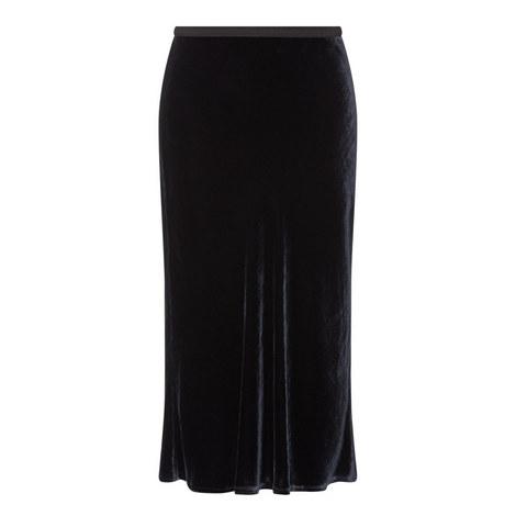 Velvet Midi Skirt, ${color}
