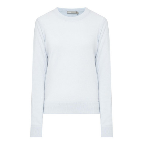 Overlay Round Neck Sweater, ${color}