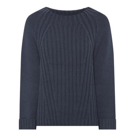 Raglan Ribbed Sweater, ${color}