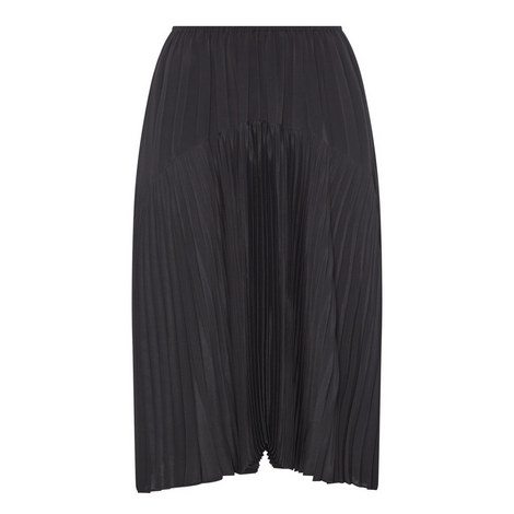 Pleated Seamed Skirt, ${color}