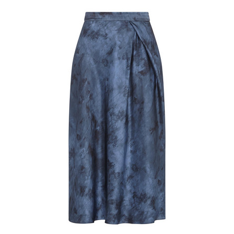 Marble Side Pleat Skirt, ${color}