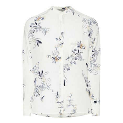 Silk Floral Blouse, ${color}