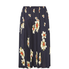 Gardenia Floral Pleated Skirt
