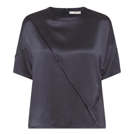 Short Sleeve Silk Top, ${color}