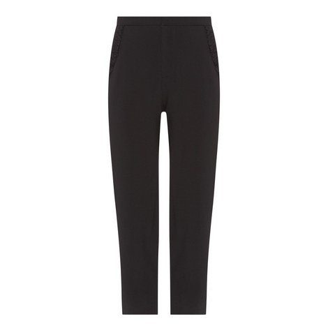 Ruffle Trim Trousers, ${color}