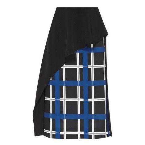 Asymmetric Ruffle Midi Skirt, ${color}