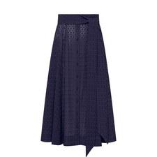 Floral Eyelet Beach Skirt