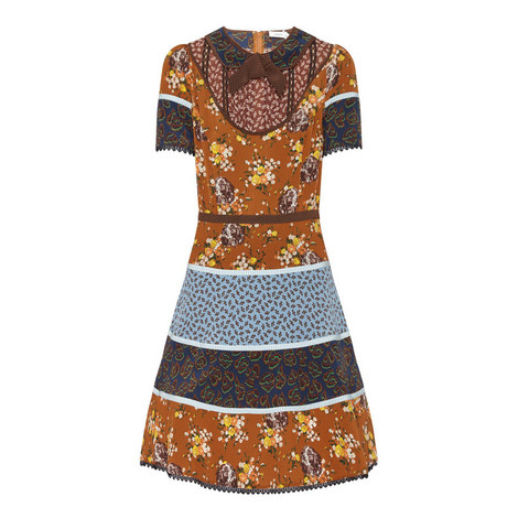 Mix Print Circle Dress, ${color}