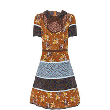 Mix Print Circle Dress