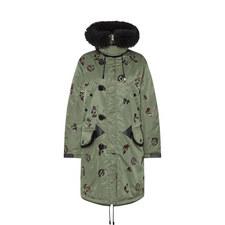Sequin Parka Coat