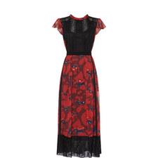 Horse Print Lacework Dress