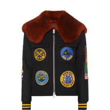 Military Patch Bomber Jacket