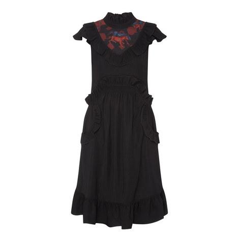 Sleeveless Ruffle Dress, ${color}