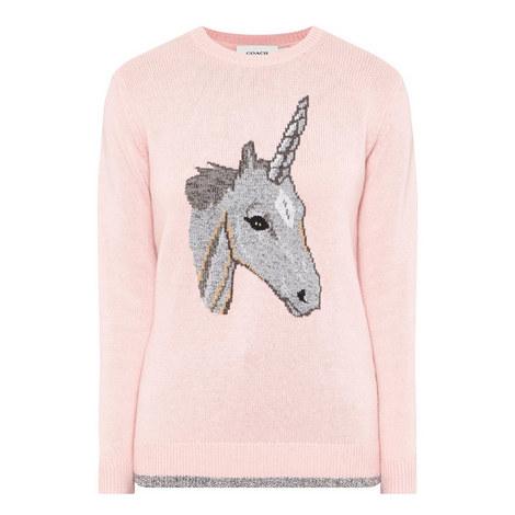 Unicorn Intarsia Sweater, ${color}