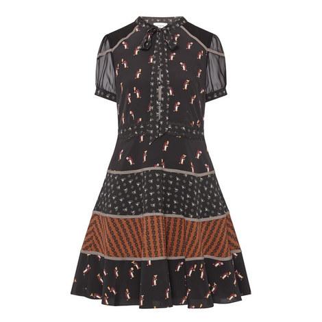 Penguin Print Dress, ${color}