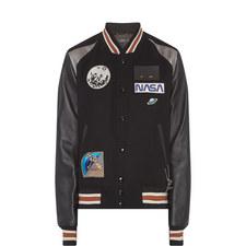 Space Appliqué Varsity Jacket