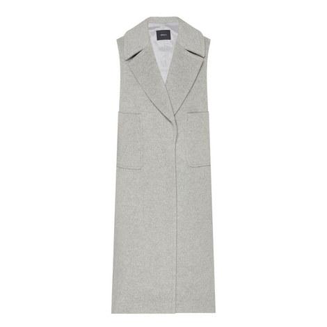 Sleeveless Longline Wool Gilet, ${color}