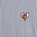 Embroidered Heart Stripe Shirt, ${color}