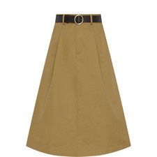 Belted A-Line Skirt