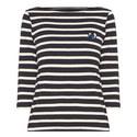 Stripe Bateau Neck Top, ${color}