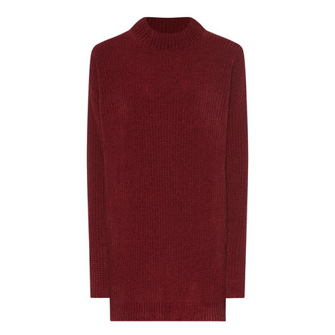 Ribbed Longline Sweater, ${color}