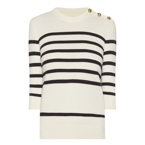 Button Detail Stripe Sweater, ${color}