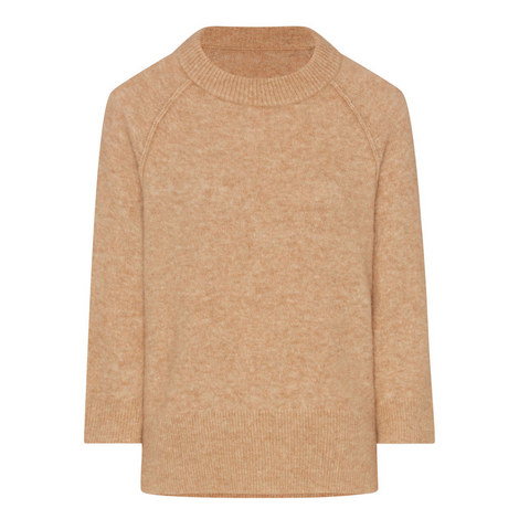 Relaxed Crew Neck Sweater, ${color}