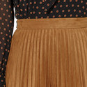 Pleated Faux Suede Skirt, ${color}
