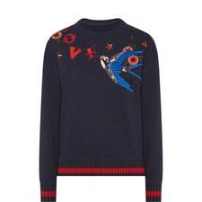 Embellished Bird Sweatshirt