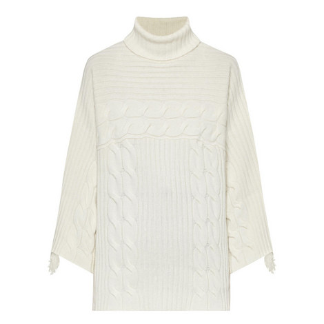 Relaxed Fringed Sleeve Sweater, ${color}