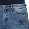 Star Print Jeans, ${color}
