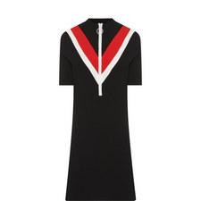 Short-Sleeved Zip Dress