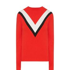 V-Stripe Knit Sweater